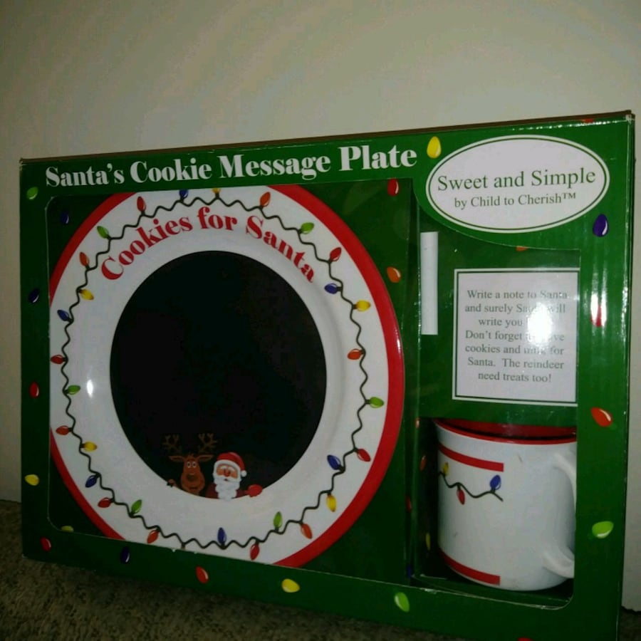 NEW: santas message plate Includes message plate,