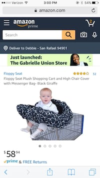 Floppy Seat Shopping Cart & Highchair Cover NEW