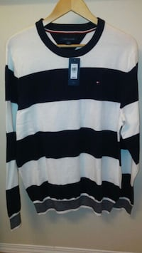 NEW WITH TAG: mens Tommy Hilfiger XL striped sweat Edmonton, T6X 1C3
