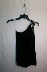 BLACK TOP W/ RHINESTONES