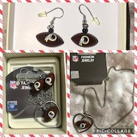 black and silver necklace with earrings Huntingtown, 20639