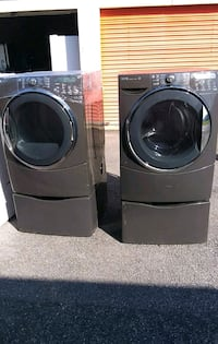 two gray front-load clothes washer and dryer set Atlanta, 30336