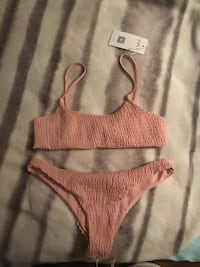 Pink rouched bikini top and bottom (cheeky) Chicago, 60641