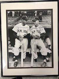 Autographed Joe DiMaggio & Mickey Mantle framed picture  Lloyd Harbor, 11724