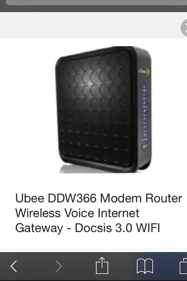 WIFI Router 3 0 Ubee DDW366 (Modem router)
