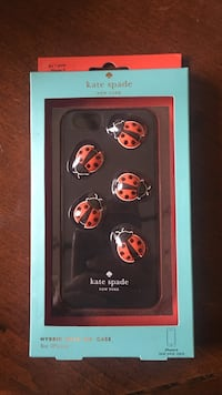 red and black Kate Spade ladybug iPhone case
