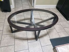 Glass Coffee table & designer ball decor with bowl
