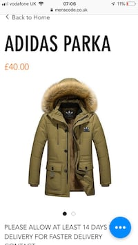 Brown and black parka jacket West Bromwich, B70 0PF