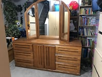 brown wooden dresser with mirror Edmonton, T5L 3T4