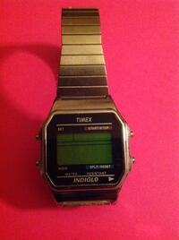 Square silver casio digital watch with link bracelet Land O Lakes, 34638