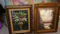 two brown wooden framed paintings Long Beach, 90805