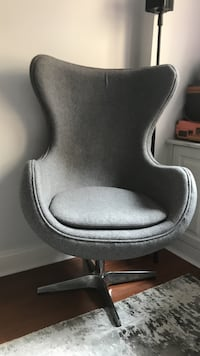 Grey Egg Chair New York, 10021