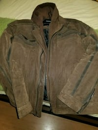 brown leather zip-up jacket Brampton, L6S 2S1