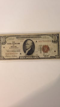 1929 $10 National Currency. Winchester, 22602