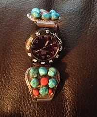 Men's watch Turquoise &a coral Stones on band  Greenville, 29605