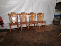 four brown wooden windsor chairs Chicago, 60641