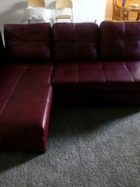 red leather tufted sectional sofa Las Vegas, 89107