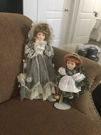 2 Dolls with stands  Bolton, L7E 1X4