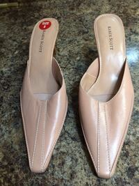 PALE PINK SLIP ON SHOES