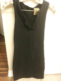 Tight stretchy little black dress - lace front