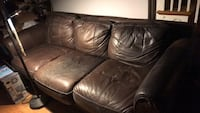 brown leather 3-seat sofa Silver Spring, 20901