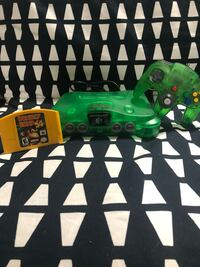 N64 Green Console + Controller + Donkey Kong Game