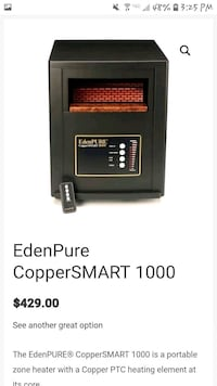 Eden Pure Infrared Heater Branson, 65616