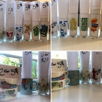 Vintage drinking glasses $5.00 each see pictures superhero gl Cambridge, N1R 2T9