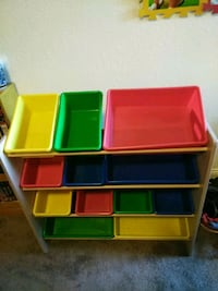 yellow, red, and green plastic toy organizer Sacramento, 95814