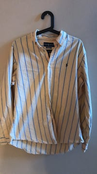 Large  Polo button down. yellow and blue  Conway, 29526