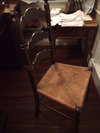 Mahogany ladder back chair, caning perfect