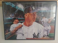 """24""""x18"""" Mickey Mantle Print in Glass Frame MUST SELL OBO NEWARK"""