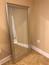 Silver floor length mirror Centreville
