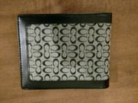 NEW Black and Gray Wallet w Free Gift Boston