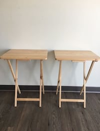 2 Woden side foldable table College Park, 20740
