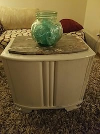clear glass bowl and white wooden side table Colorado Springs, 80918