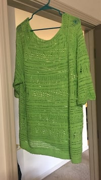 Green knitted blouse 526 mi