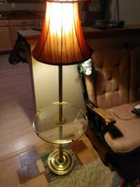 Glass table and lamp