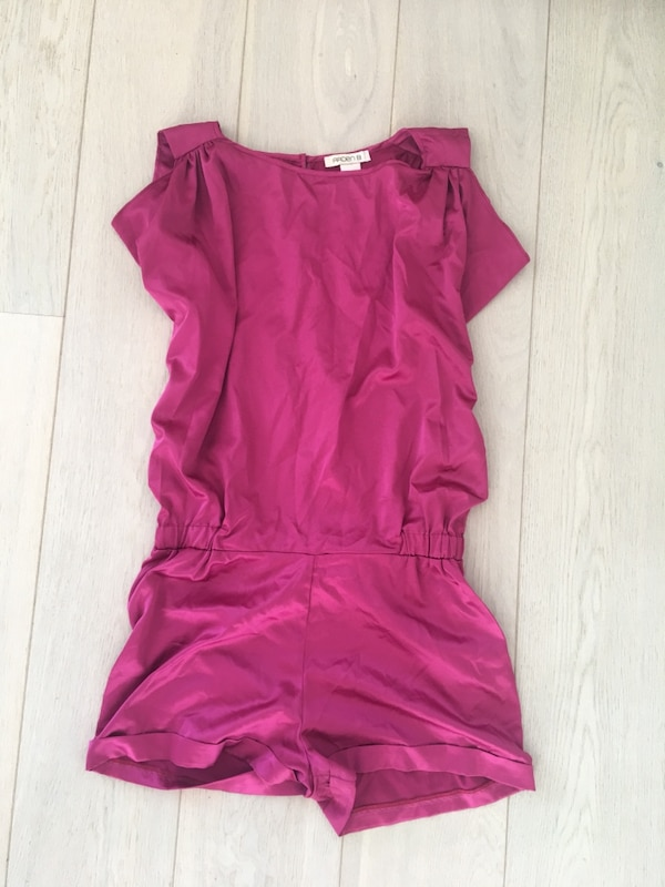 Pink party romper