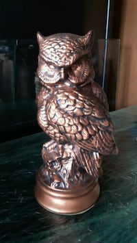 Beautiful Black and Brass colored Owl statue