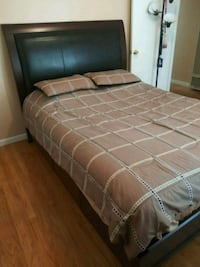 Queen Bed Frame and Headboard Leather Modesto, 95350