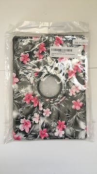 White, grey and pink floral ipad case