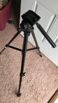 Incredibly sturdy tripod that rotates.  For cameras and for video recording Black metal tripod stand with tripod Norfolk, 23523