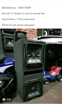 Kicker L7 subs in box 3000 waytd