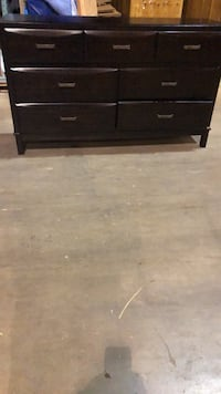 black wooden 2-drawer chest 59 km
