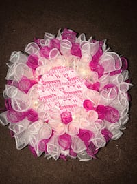 white and pink floral wreath Norwalk, 90650