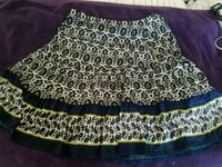 black, blue, and white floral flare skirt New Braunfels, 78132