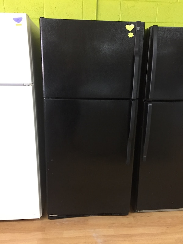 GE black Top Freezer Refrigerator