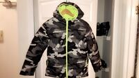 Black, green, and gray camouflage zip-up bubble jacket Falls Church, 20598