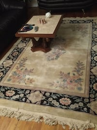 brown and black floral area rug Montreal, H3W